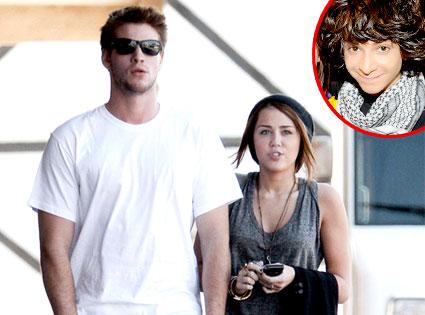 Liam Hemsworth, Miley Cyrus, Adam Sevani