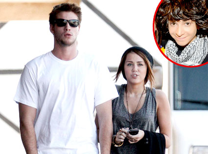 Liam Hemsworth, Miley Cyrus, Adam Sevani