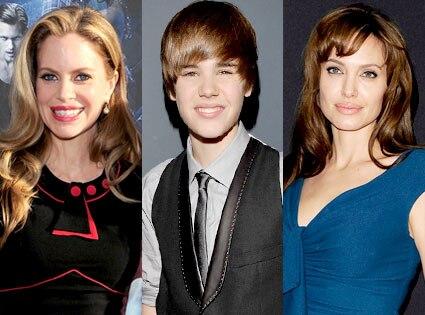 Kristin Bauer, Justin Bieber, Angelina Jolie