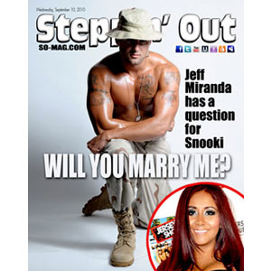 Jeff Miranda, Steppin'Out Magazine, Nicole 'Snooki' Polizzi