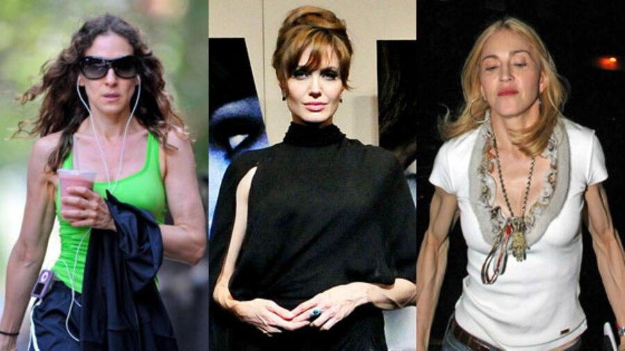 Sarah Jessica Parker, Angelina Jolie, Madonna