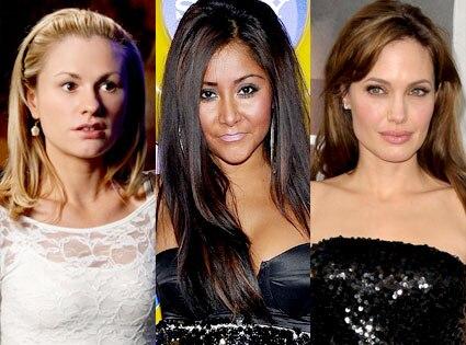 Anna Paquin, Nicole 'Snooki' Polizzi, Angelina Jolie