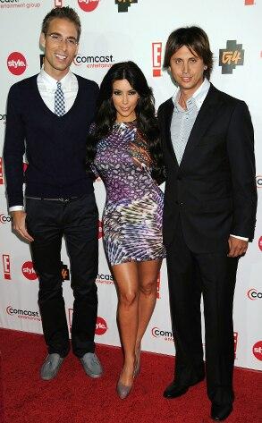 Simon Huck, Kim Kardashian, Jonathan Cheban,CEG TCA Party
