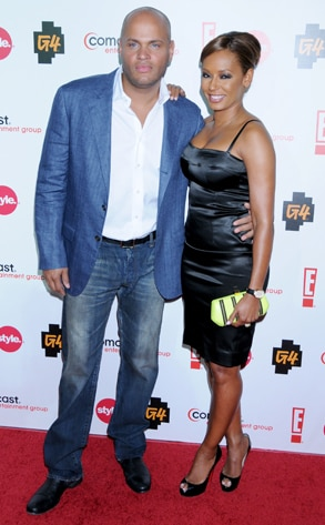 Stephen Belafonte, Melanie Brown, CEG TCA Party