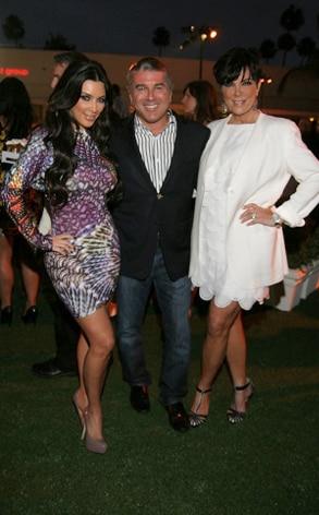 Kim Kardashian, Ted Harbert, Kris Jenner CEG TCA Party