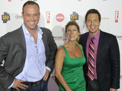Matt Iseman, Trish Suhr, Mark Brunetz, CEG TCA Party