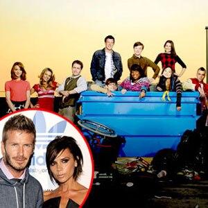 Glee Cast, David Beckham, Victoria Beckham