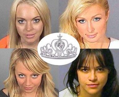 Nicole Richie, Paris Hilton, Lindsay Lohan, Michelle Rodriguez