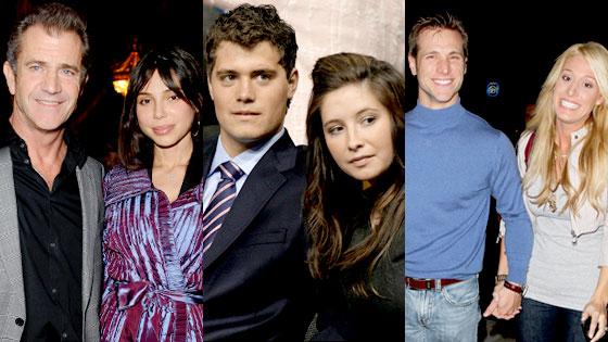Mel Gibson, Oksana Grigorieva, Bristol Palin, Levi Johnston, Jake Pavelka, Vienna Girardi