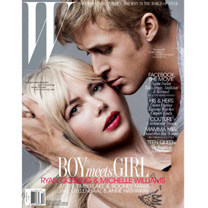 W magazine cover, Ryan Gosling, Michelle Williams