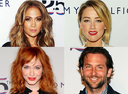 Bradley Cooper, Christina Hendricks, Amber Heard, Jennifer Lopez