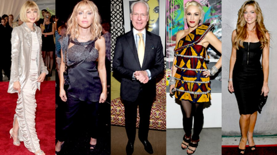 Anna Wintour, Courtney Love, Tim Gunn, Gwen Stefani, Denise Richards