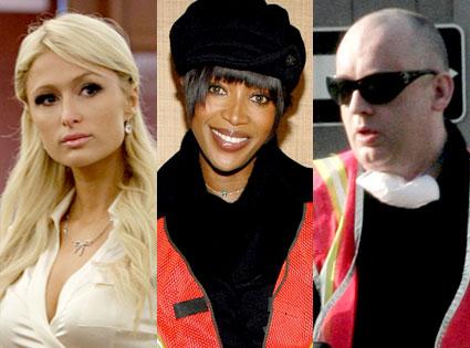 Paris Hilton, Naomi Campbell, Boy George