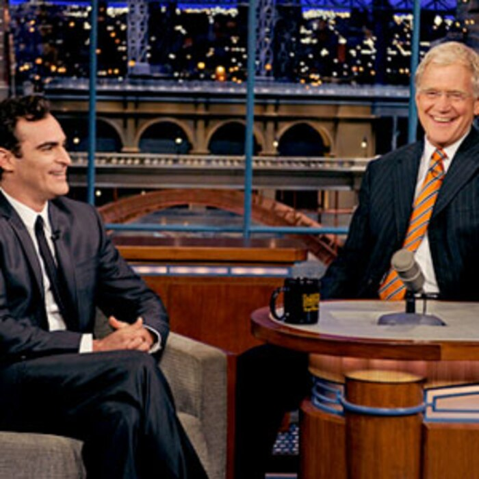 Joaquin Phoenix, Dave Letterman