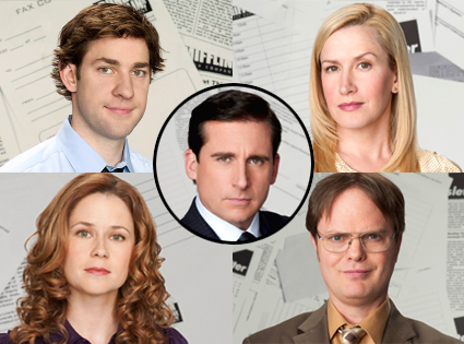 The Office, Steve Carell, John Krasinski, Angela Kinsey, Jenna Fischer, Rainn Wilson