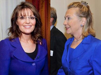 Sarah Palin, Hillary Clinton