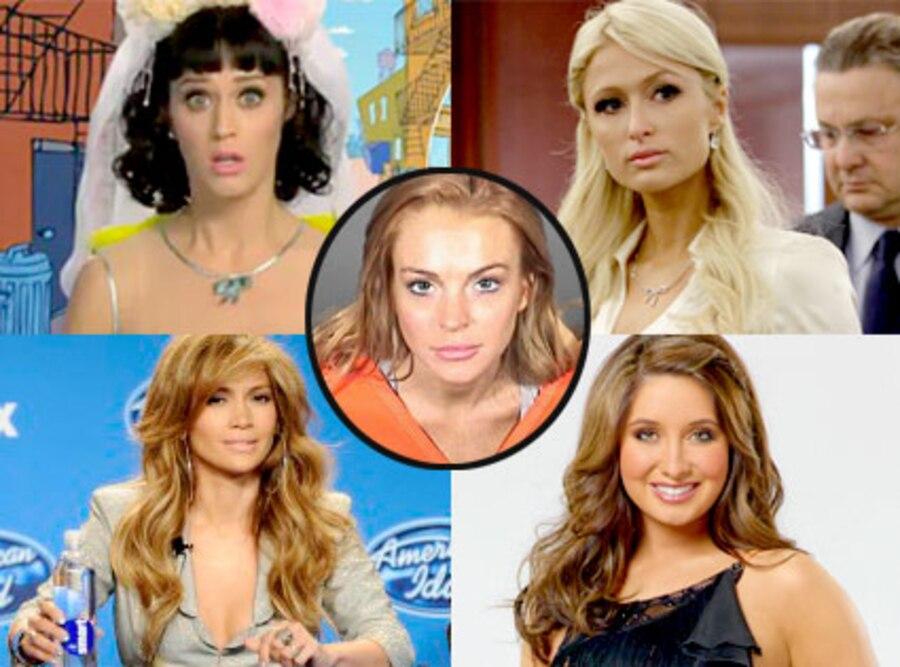 Katy Perry, Paris Hilton, Jennifer Lopez, Bristol Palin, Lindsay Lohan, Week In Review