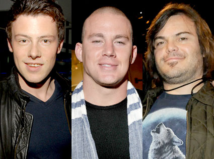 Cory Moneith, Channing Tatum, Jack Black