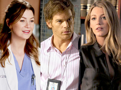 Greys Anatomy, Dexter, Gossip Girl