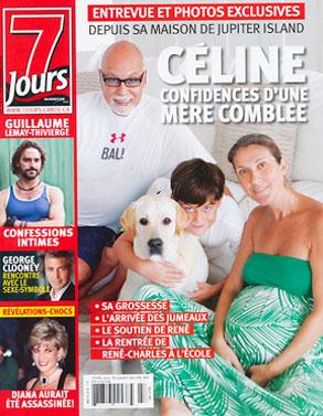 Celine Dion, 7 Jours Cover