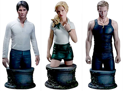 Stephen Moyer, Anna Paquin, Alexander Skarsgard, True Blood Figurines