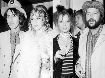 George Harrison, Patty Boyd, Eric Clapton