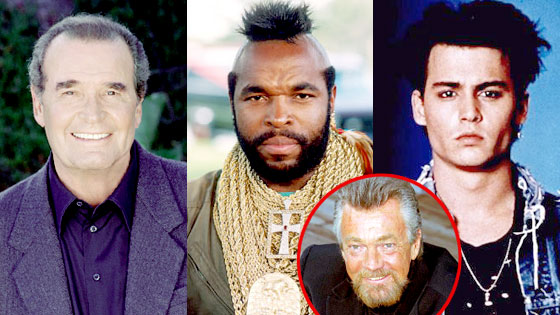 James Garner, Mr. T, Johnny Depp, Stephen J. Cannell