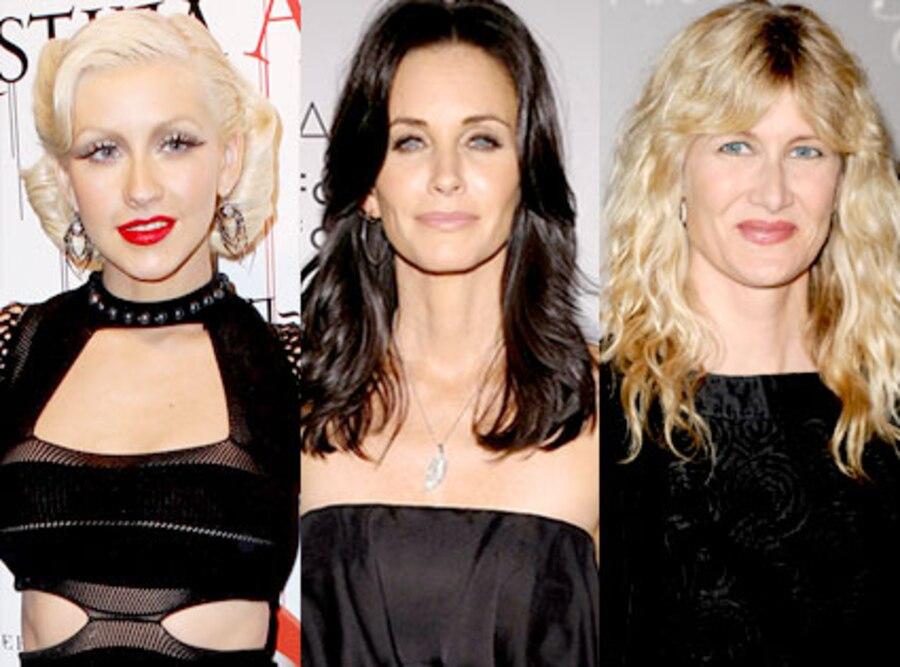 Christina Aguilera, Courteney Cox, Laura Dern