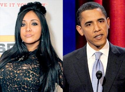 Snooki, Barack Obama
