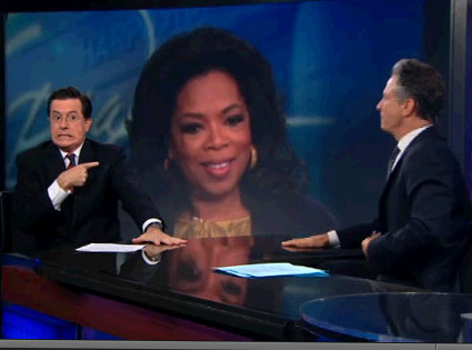 Oprah, Stephen Colbert, John Stewart, Daily Show