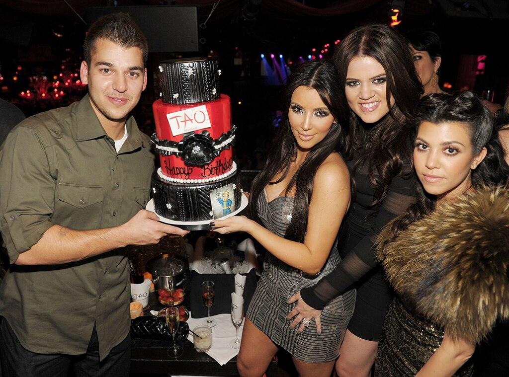 Khloe Kardashian, Kourtney Kardashian, Rob Kardashian, Kim Kardashian, Birthday 2010