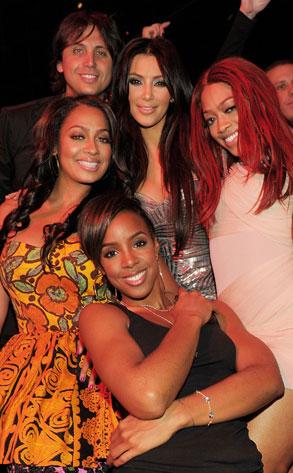 Kim Kardashian, Trina, Lala Vasquez, Jonathan Cheban, Kelly Rowland