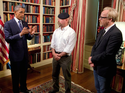President Barack Obama, Jamie Hyneman, Adam Savage