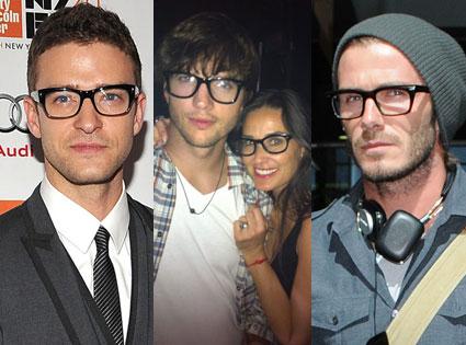 Justin Timberlake, David Beckham, Demi Moore, Ashton Kutcher