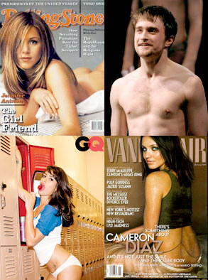 Jennifer Aniston, Daniel Radcliffe, Lea Michele, Cameron Diaz
