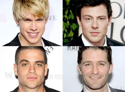 Chord Overstreet, Cory Monteith, Mark Salling, Matthew Morrison