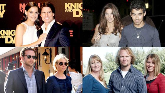 Tom Cruise, Katie Holmes, Joe Jonas, Ashley Greene, Renee Zellweger, Bradley Cooper, Kody Brown, Sister Wives
