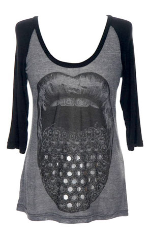 Lauren Moshi Heather Grey Harner Diamond Lips