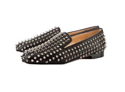 Christian Louboutin Rollerball and Rollerboy Spikes Loafers