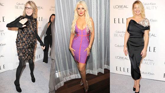 Diane Keaton, Christina Aguilera, Kate Hudson
