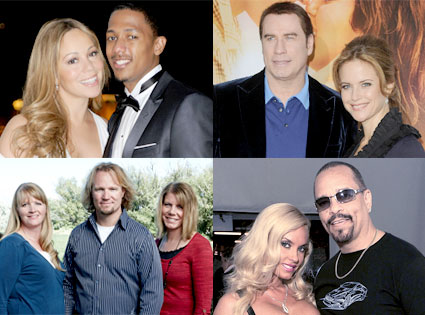 Mariah Carey, Nick Cannon, John Travolta, Kelly Preston, Kody Brown, Sister Wives, Ice T, Coco