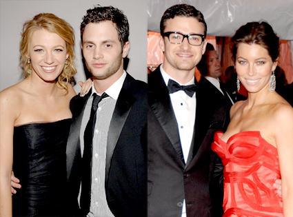 Penn Badgley, Blake Lively, Justin Timberlake, Jessica Biel