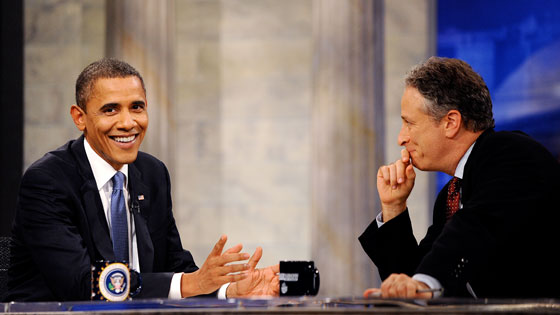 Jon Stewart, Barack Obama