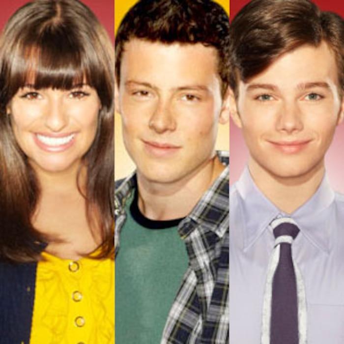 Lea Michele, Cory Monteith, Chris Colfer