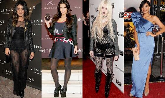 Shenae Grimes, Kim Kardashian, Taylor Momsen, Rosario Dawson