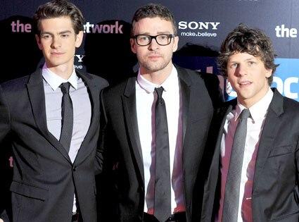 Andrew Garfield, Justin Timberlake, Jesse Elsenberg