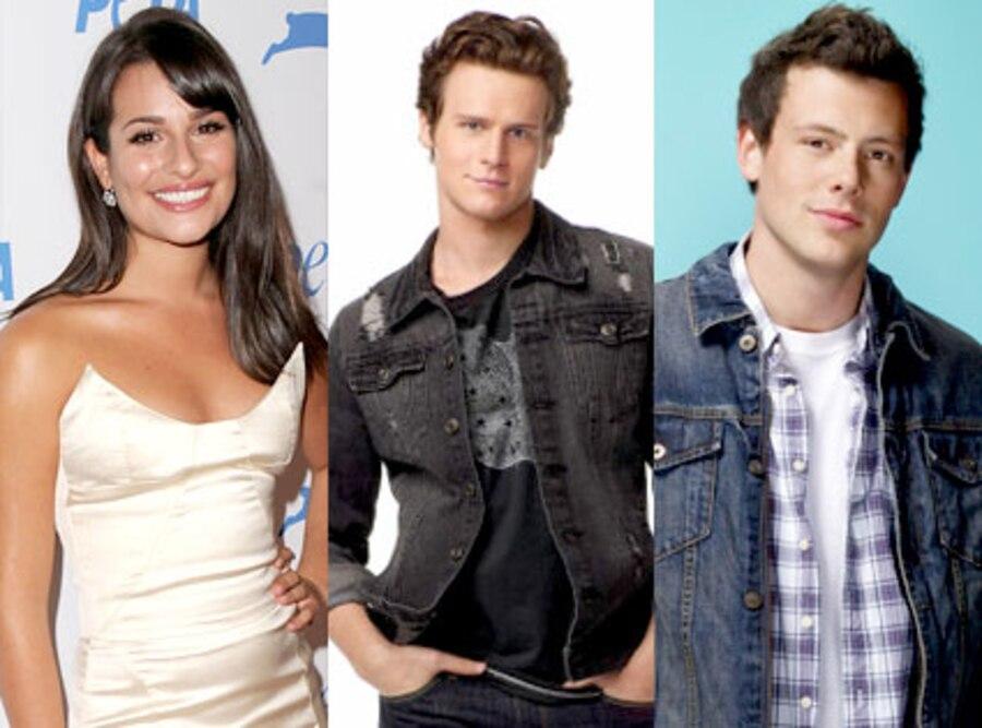 Lea Michele, Jonthan Groff, Cory Monteith