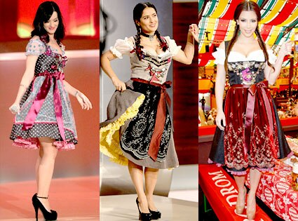 Katy Perry, Salma Hayek, Kim Kardashian