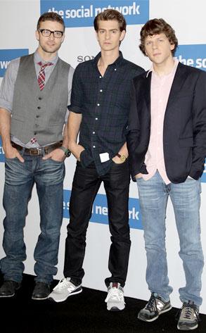 Justin Timberlake, Andrew Garfield, Jesse Eisenberg