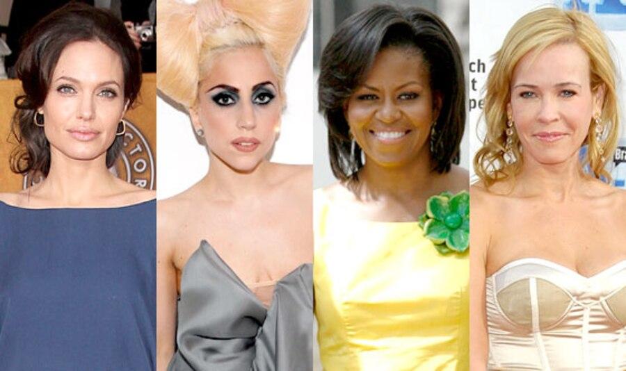 Angelina Jolie, Lada Gaga, Michelle Obama, Chelsea Handler
